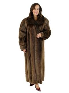 Medium Tone Long Hair Beaver Coat