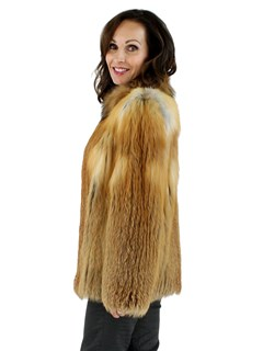 Woman's Natural Red Fox Fur Jacket