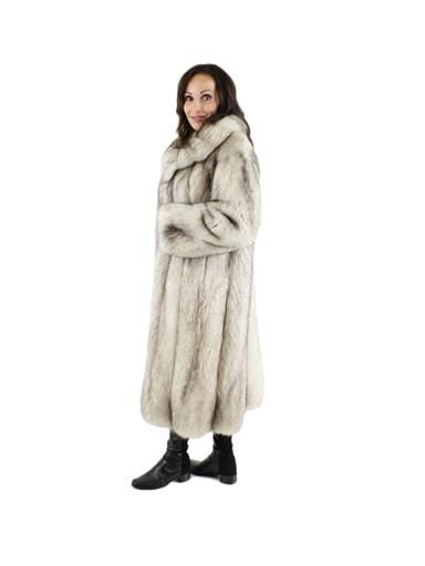 Cross Fox Fur Coat