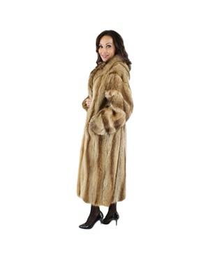 Golden Glory Raccoon Fur Coat