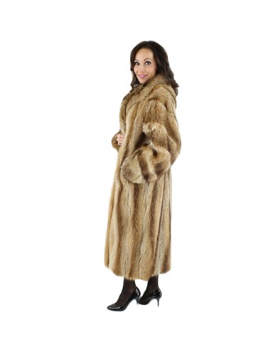 Golden Glory Raccoon Fur Coat