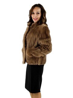 7d390f082c4 Autumn Haze Cord Cut Mink Fur Jacket - Women s Medium