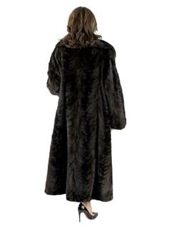 Woman's Mahogany Mink Fur Sculptured Section Coat