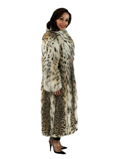 Woman's Cat Lynx Fur Coat