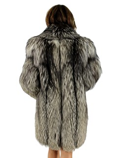 Natural Silver Fox 3/4 Coat