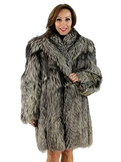 Natural Silver Fox 3/4 Coat