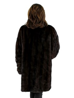 Woman's Plus Size Mahogany Mink Fur Stroller