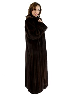 Mahogany Female Mink Fur Coat