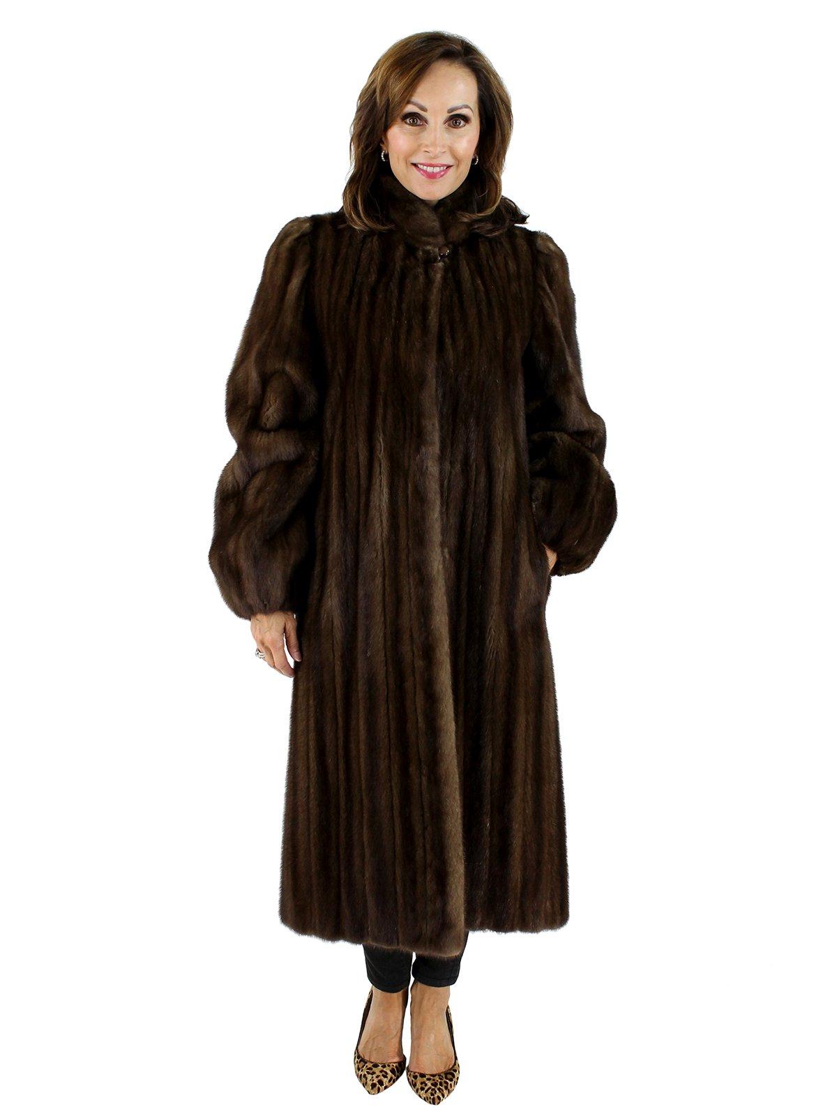 Woman's Petite Lunaraine Female Mink Fur Coat