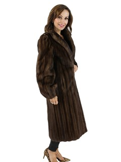 Woman's Petite Lunaraine Female Mink Fur Coat