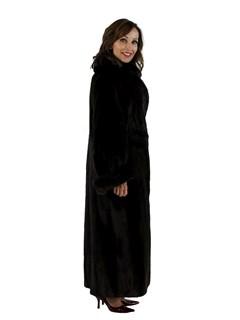 Woman's Plus Size Mahogany Female Mink Fur Coat