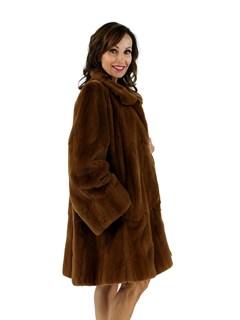 Woman's Rust Sheared Mink Fur Stroller