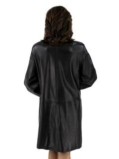 Woman's Black Lambskin Leather Stroller