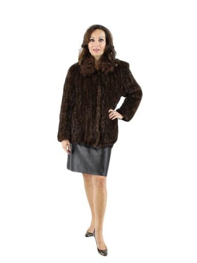 Knit Mink Fur Jacket