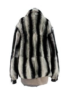 Man's Rex Rabbit Chinchilla Dyed Fur Jacket