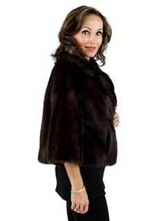 Mahogany Female Mink Fur Evening Jacket