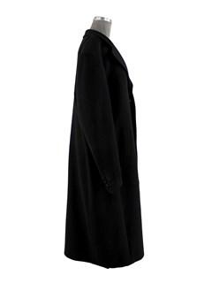 Man's Black Wool Overcoat