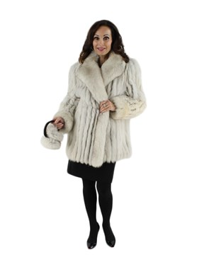 Blue Fox Fur Stroller