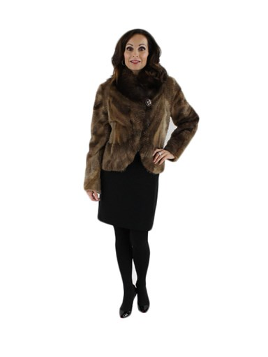 Sheared Muskrat Fur Jacket