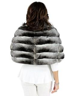 Woman's Natural Chinchilla Fur Stole