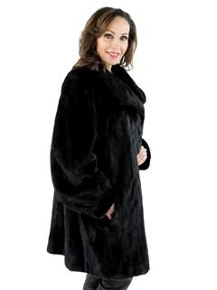 Woman's Plus Size Blackglama Mink Fur Stroller