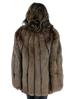 Woman's Brown Fox Fur Jacket