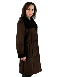 Woman's Christ Brown Shearling Lamb Stroller