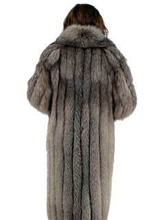 Woman's Indigo Fox Fur Coat