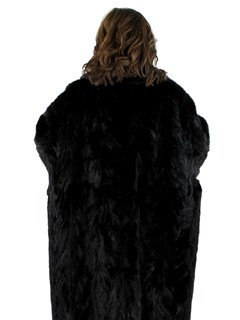 Woman's Plus Size Sculptured Mink Fur Coat