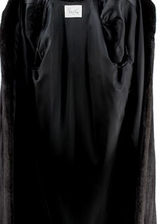 Woman's Ranch Mink Fur Coat with Detachable Fox Trimmed Hood