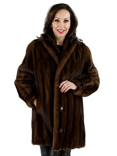 Woman's Demi Buff Female Mink Fur Jacket