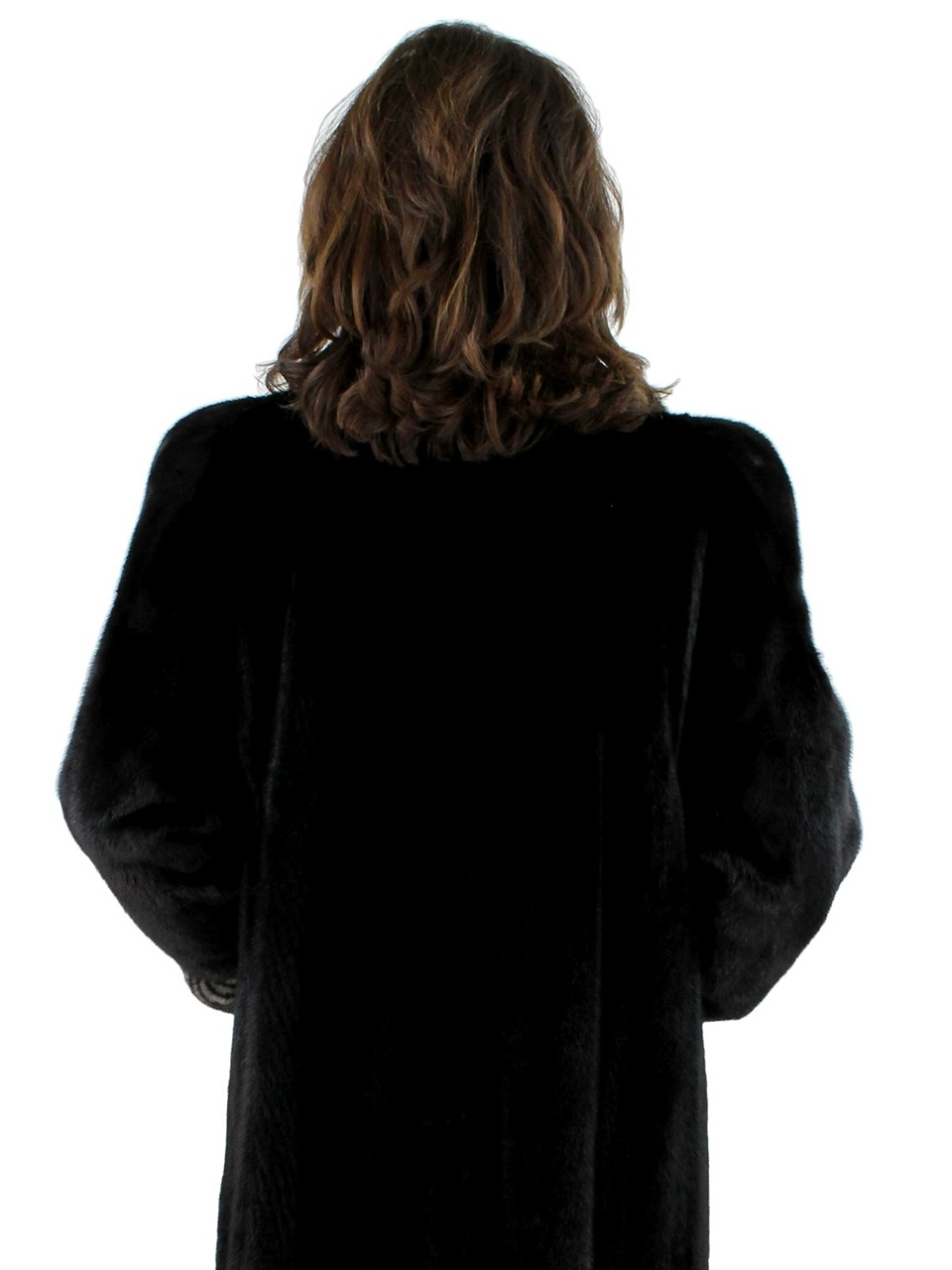 Ranch Mink Coat with Blue Iris Two Tone Detail