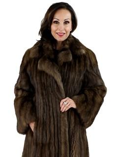 Woman's Natural Russian Sable Fur Coat