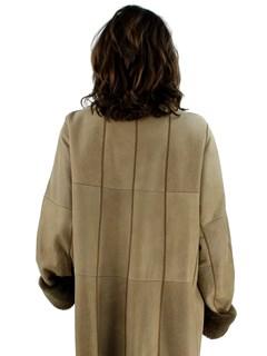Woman's Plus Size Tan Christ Shearling Lamb Coat