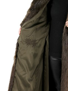 Woman's Medium Tone Beaver Fur Coat