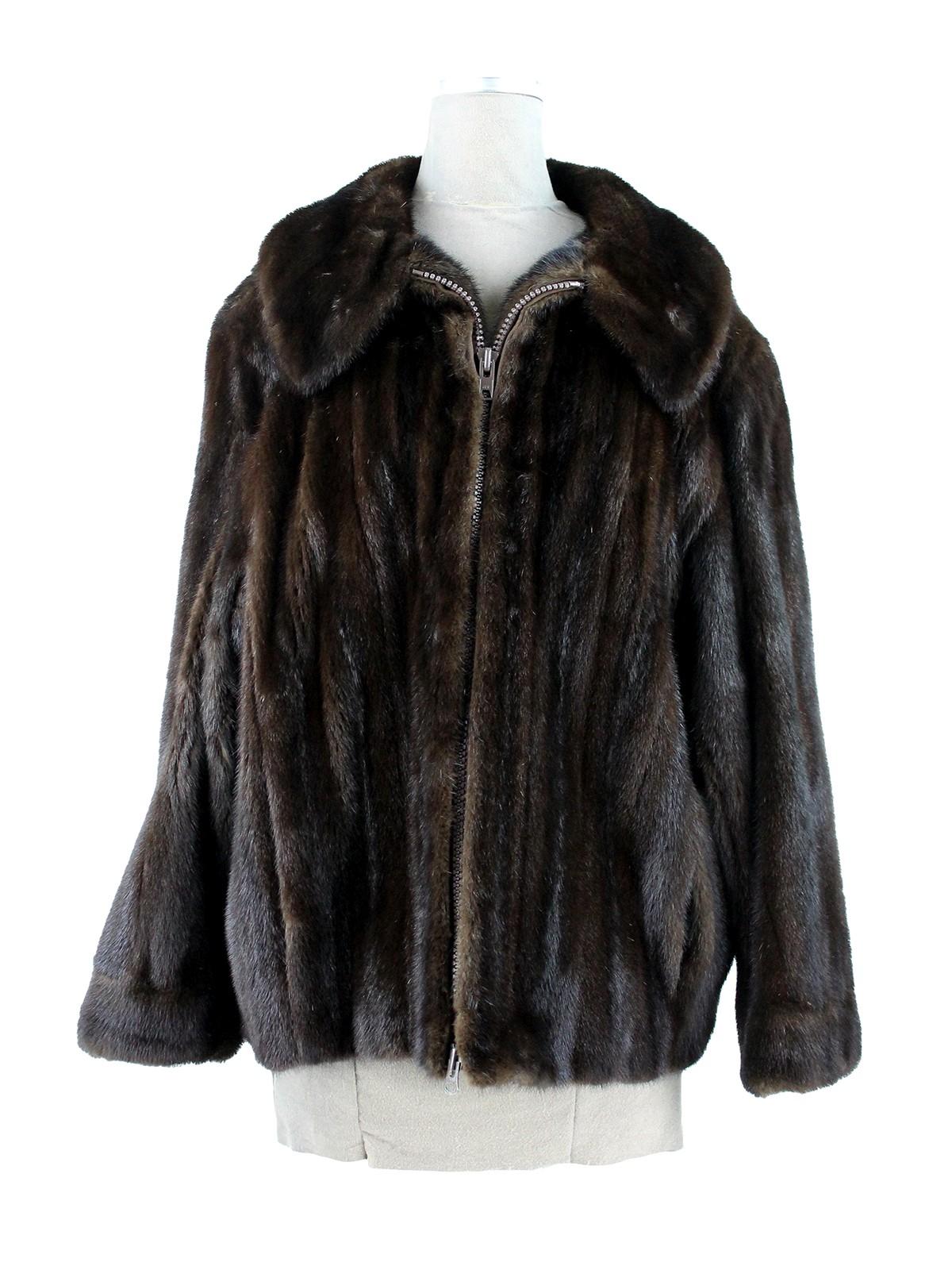 Man's Dark Mahogany Mink Fur Jacket