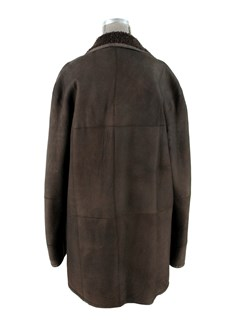 Man's Handsome Dark Chocolate Brown Shearling Jacket