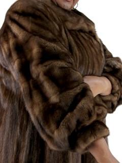 Woman's Plus Size Demi Buff Mink Fur Coat