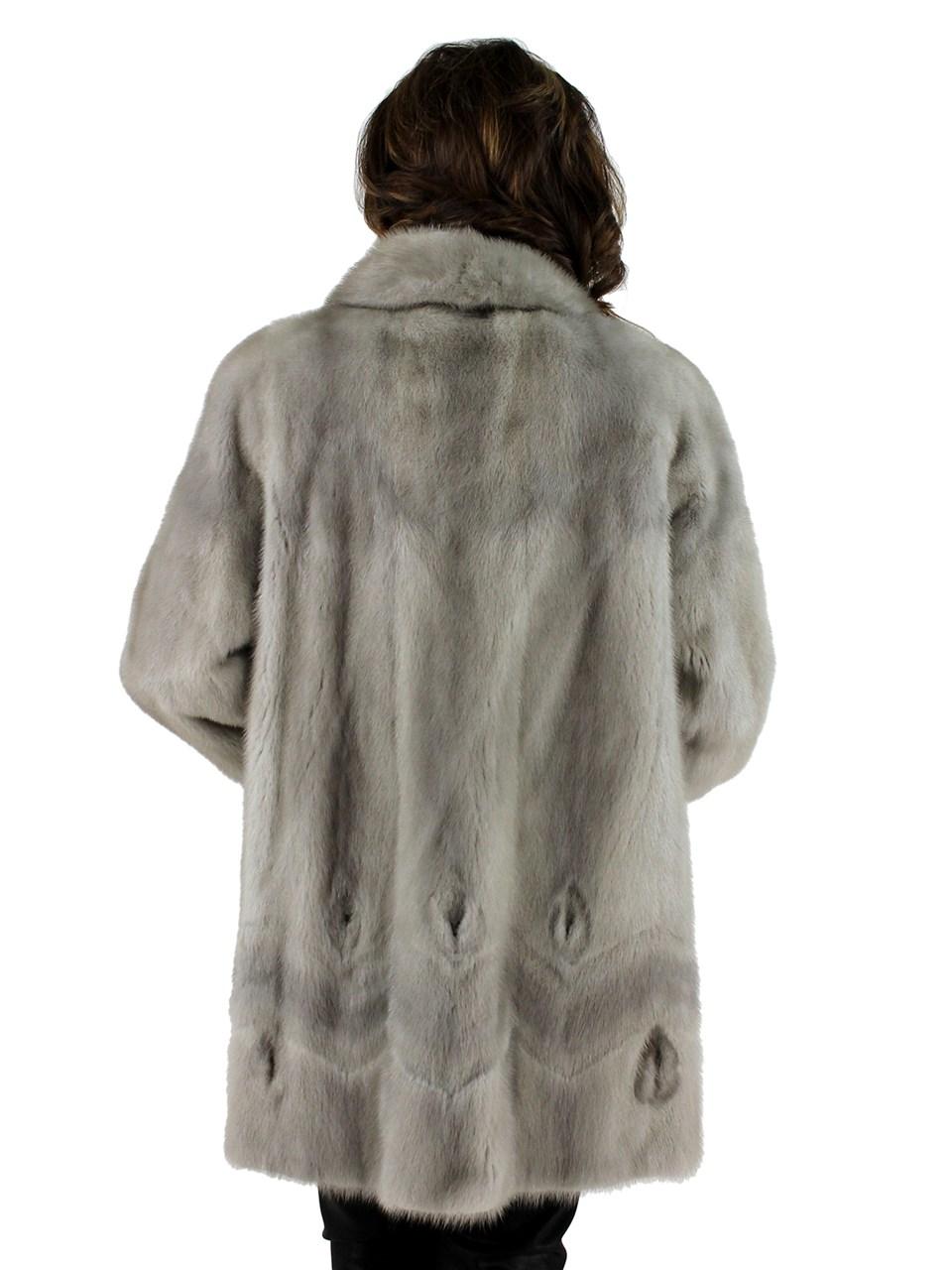 Blue Diamond Cerulean Mink Jacket
