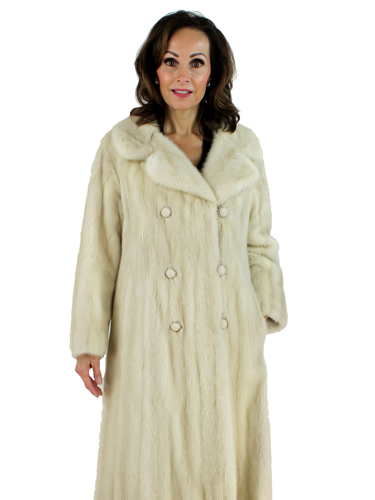 Woman's Double Breasted Azurene Female Mink Fur Coat