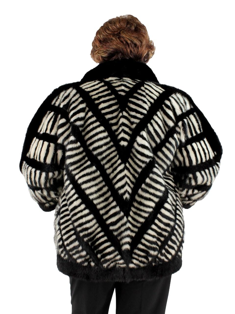 Black White Mink Jacket