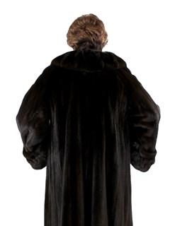 Woman's Plus Size Female Ranch Mink Fur Coat