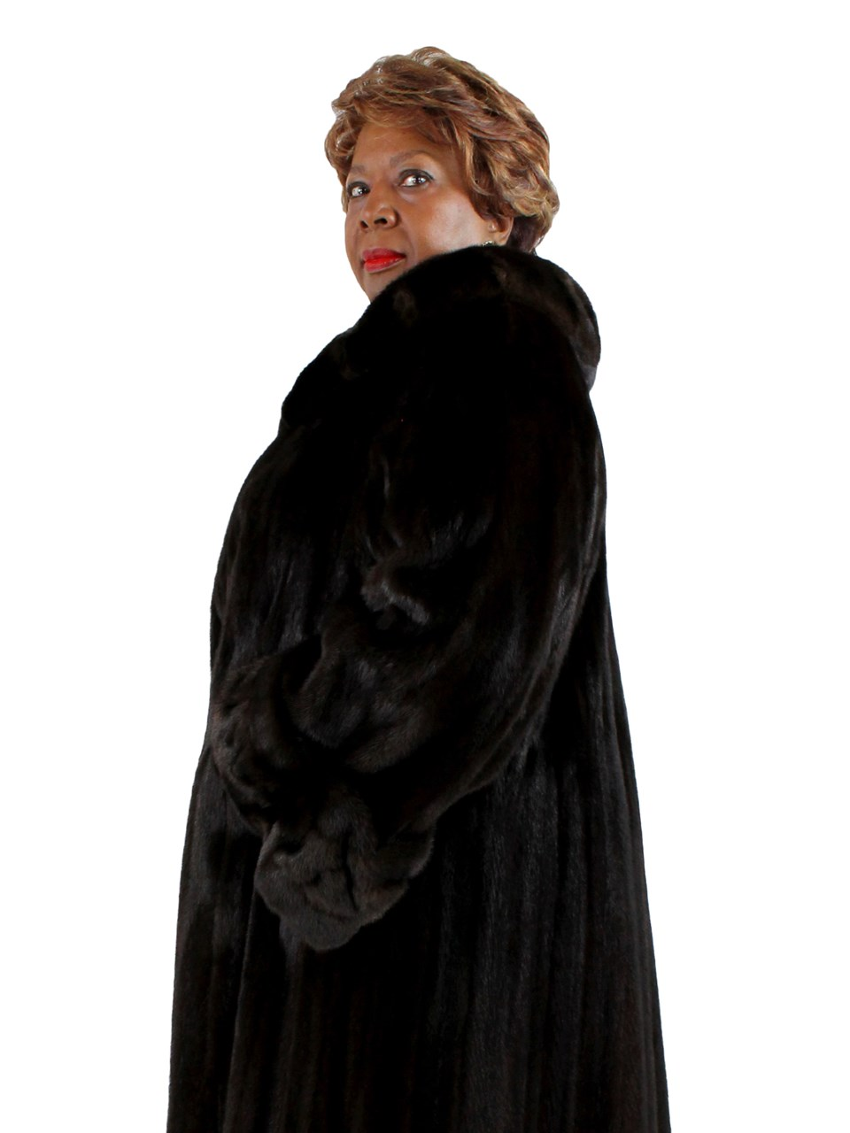 Plus Size Female Ranch Mink Coat