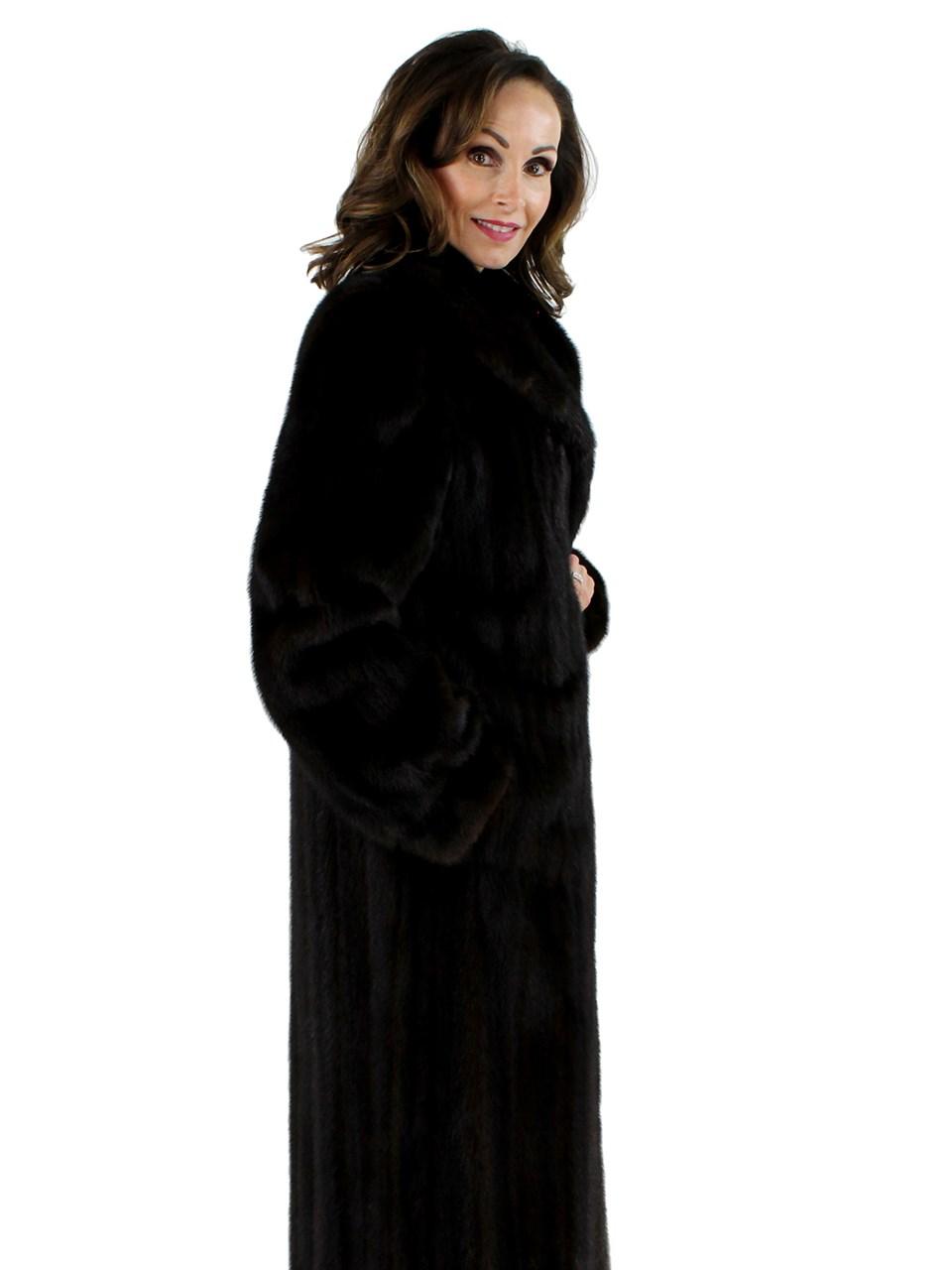 Dark Mahogany Female Mink Coat
