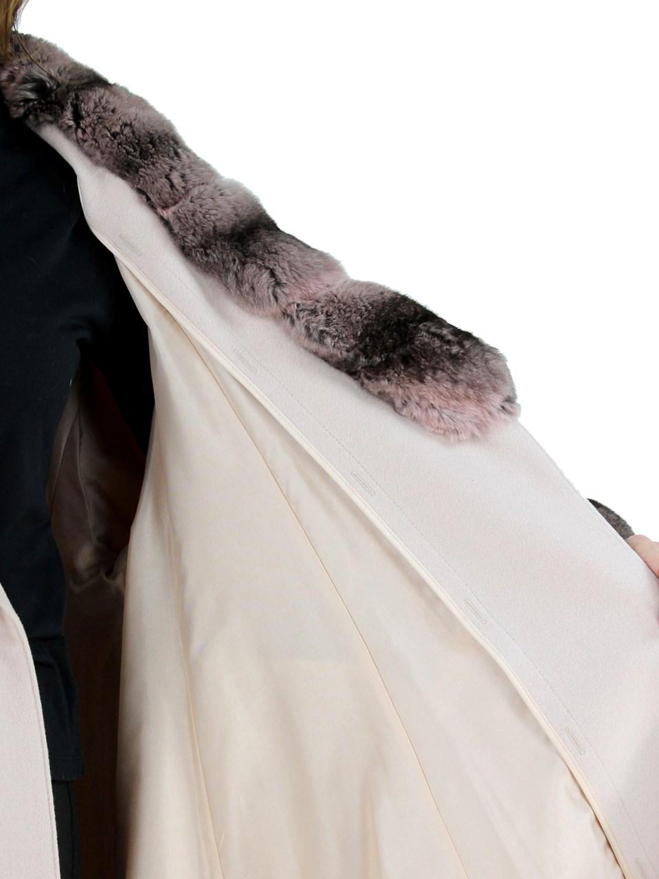 Blush Cashmere Coat with Chinchilla