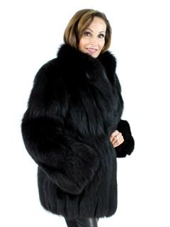 Woman's Black Fox Fur Jacket