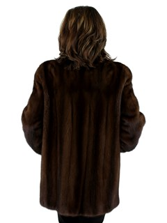 Woman's Demi Buff Female Mink Fur Jacket