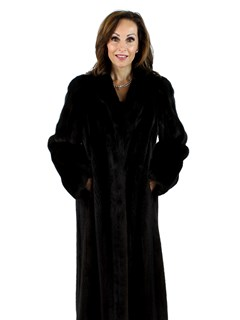 Woman's Blackglama Ranch Mink Fur Coat