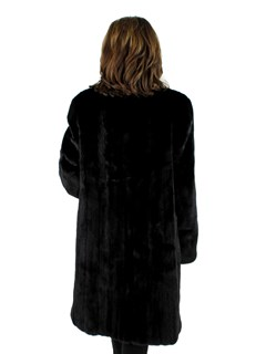 Woman's Ranch Female Mink Fur 7/8 Coat