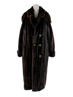 Man's Dark Mahogany Double Breasted Mink Coat